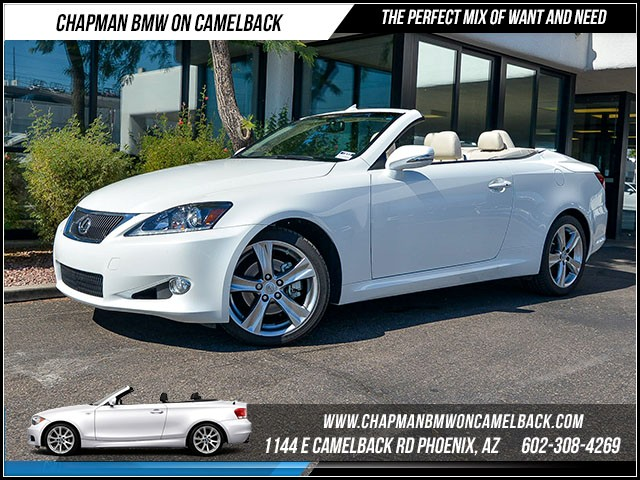 2012 Lexus IS 250C 26654 miles Wireless data link Bluetooth Phone hands free Cruise control An