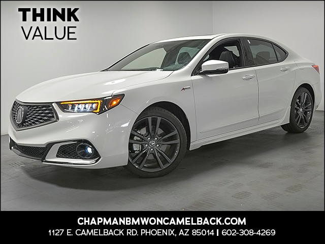2018 Acura TLX V6 wTech wA-SPEC 3709 miles Tech Package A-Spec Package Wireless data link Blu