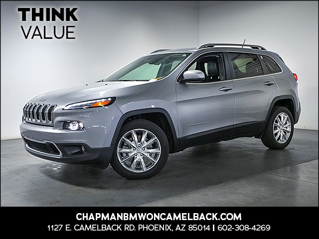 2015 Jeep Cherokee Limited 30525 miles Wireless data link Bluetooth Phone hands free Cruise con