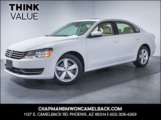 2013 Volkswagen Passat SE PZEV 30117 miles Wireless data link Bluetooth Cruise control 2-stage