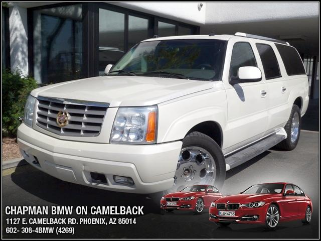 2004 Cadillac Escalade ESV AWD 93159 miles Chapman BMW is located at 12th and Camelback in Phoenix