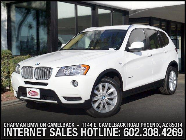 2013 BMW X3 28i AWD 11371 miles Roof rails in Satin Aluminum Hi-fi sound system Hands-free Bluet