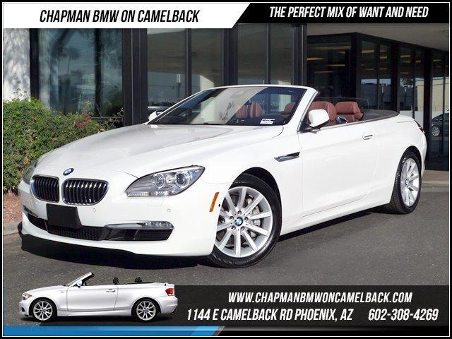 2013 BMW 6-Series 640i Conv Driver AssitExecutive 7192 miles 1144 E Camelback Rd CERTIFIED BMW
