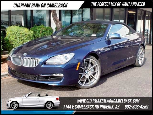 2012 BMW 6-Series 650i Nav Driver Assist Lux Seats 24828 miles 1144 E CamelbackHappier Holiday S