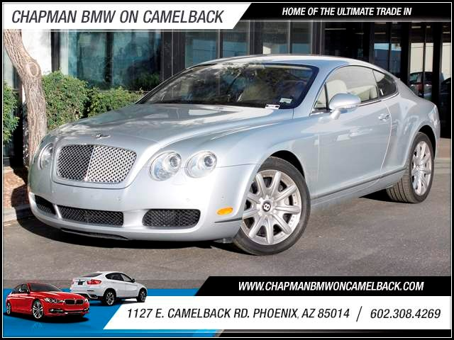 2005 Bentley Continental GT 17525 miles 602 385-2286 1127 E Camelback HOME OF THE ULTIMATE T