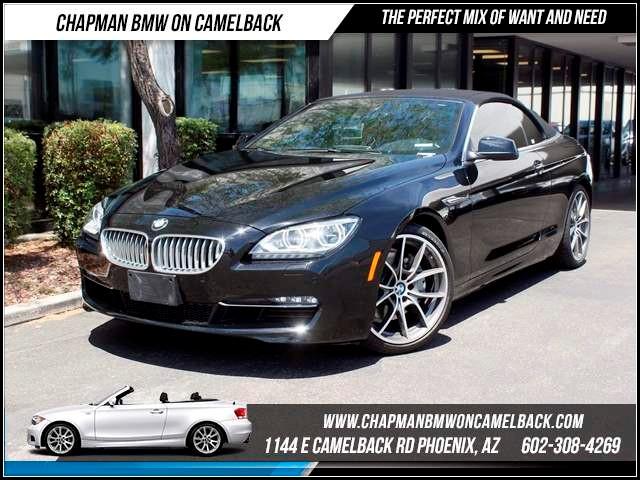 2012 BMW 6-Series 650i Convert NAV Lux seatPrem 20457 miles 1144 E CamelbackCPO Spring Sale