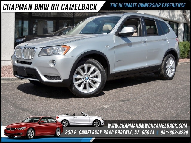 2013 BMW X3 xDrive28i 27108 miles 1144 E Camelback Rd 6023852286Chapman BMW on Camelbacks