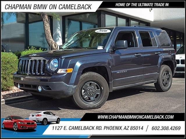 2016 Jeep Patriot Sport 16591 miles 60238522861127 E Camelback Rd Chapman Value center on C