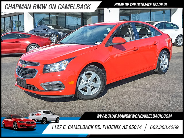 2015 Chevrolet Cruze LT 22774 miles 6023852286 1127 E Camelback Rd Chapman Value center on