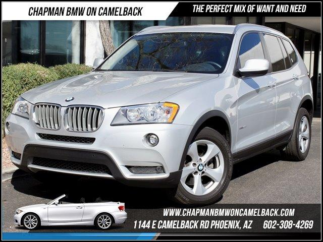 2011 BMW X3 28i AWD Prem Pkg 43674 miles 1144 E Camelback Rd CERTIFIED BMW SALE Chapman BMW on
