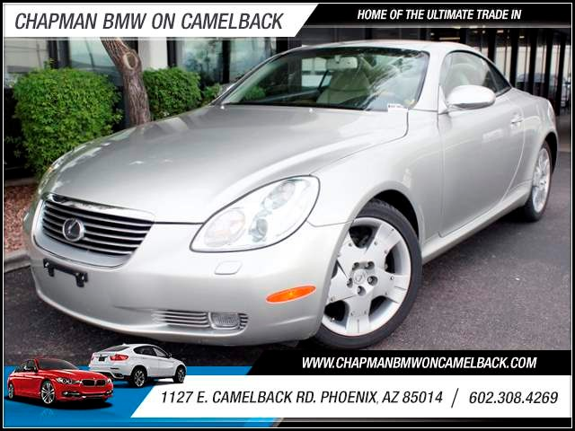 2004 Lexus SC 430 47111 miles 1127 E Camelback BUY WITH CONFIDENCE Chapman BMW is located