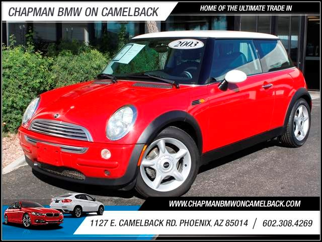 2003 MINI Cooper 85072 miles 1127 E Camelback BUY WITH CONFIDENCE Chapman BMW is located