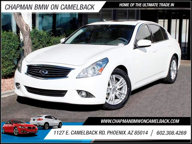 2012 Infiniti G37 Sedan Sport Appearance Edition 40176 miles 1127 E Camelback BUY WITH CONFIDEN