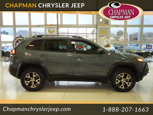 used 2014 jeep cherokee trailhawk stock 16j414a chapman automotive group. Black Bedroom Furniture Sets. Home Design Ideas