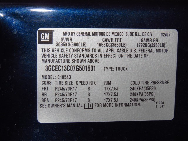2007 Chevrolet Silverado 1500 LT1 Crew Cab – Stock #20J698A