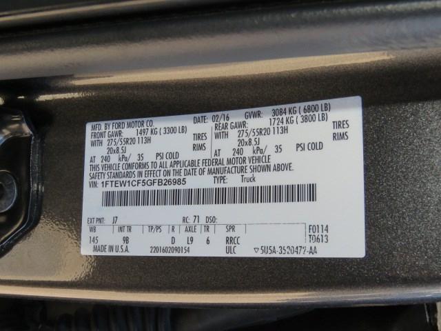 2016 Ford F-150 Platinum Crew Cab