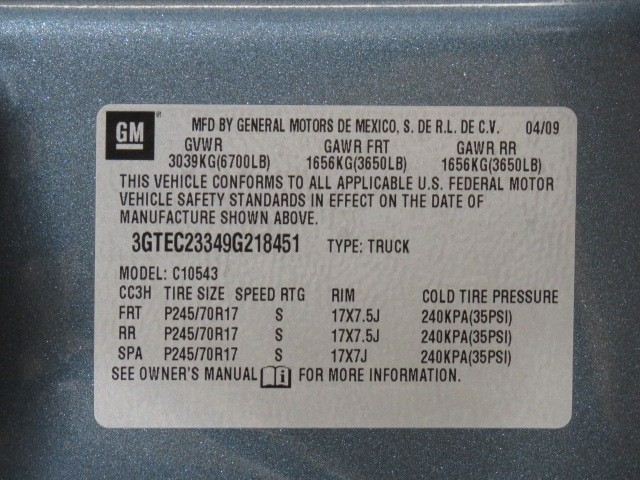 2009 GMC Sierra 1500 XFE Crew Cab