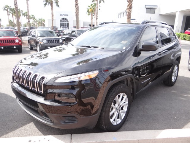 used 2016 jeep cherokee sport stock l6163 chapman automotive group. Black Bedroom Furniture Sets. Home Design Ideas