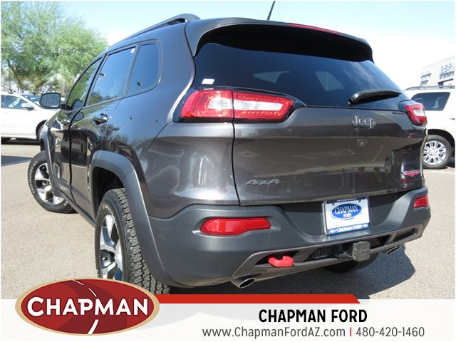 used 2015 jeep cherokee trailhawk 4x4 stock 161594a chapman automotive group. Black Bedroom Furniture Sets. Home Design Ideas