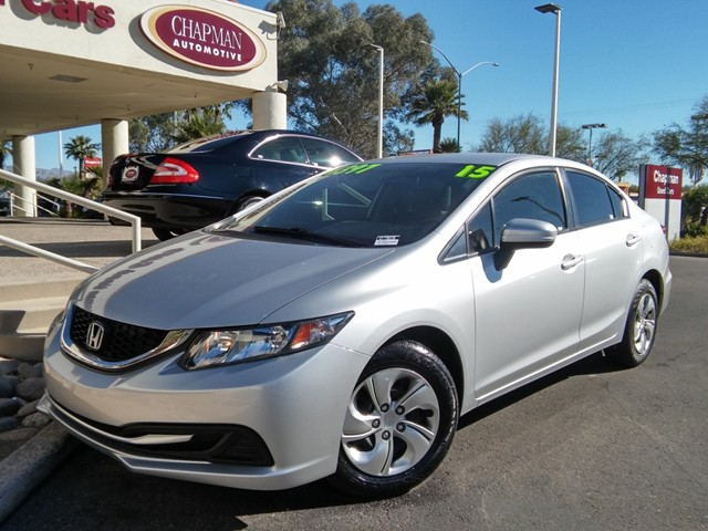 2015 Honda Civic LX 15126 miles CARFAX One-Owner Cloth Odometer is 7475 miles below market aver