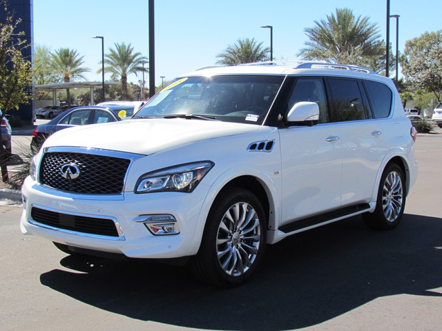 used 2015 infiniti qx80 for sale stock m1704050a mercedes benz of tucson. Black Bedroom Furniture Sets. Home Design Ideas