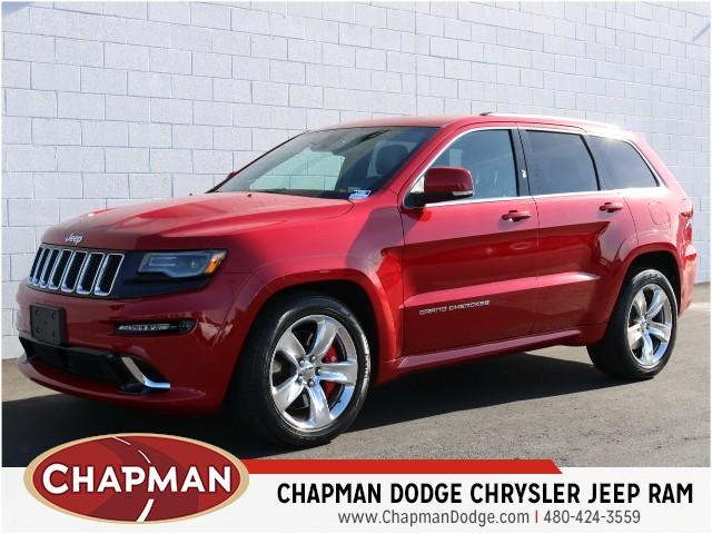 used 2015 jeep grand cherokee srt for sale stock 8j0300a chapman dodge chrysler jeep ram. Black Bedroom Furniture Sets. Home Design Ideas
